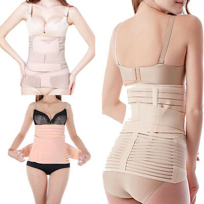 3 in 1 Postpartum Support Girdle Recovery Belly Wrap Waist Belt Body Shaper UCB