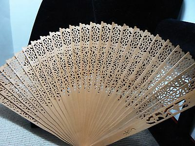 Beautiful Fan  Nice Lightweight All Wooden With Lots Of Cutout Areas   Bx 3