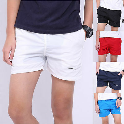 Men's Casual Running Shorts Fitness Gym Crop Pants Sports Jogging Beach Trousers