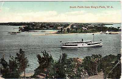South Perth from King's Park Western Australia Antique Postcard circa 1900's