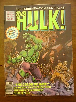 Hulk  Comic Magazine #12  Marvel 1978  Fn/vf