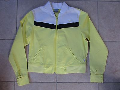 Girls Nike Spring Jacket Size L (12-14) Yellow/Blue/White Nice!