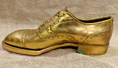 Vintage Jarman Men's Shoe Brass Advertising Shoe Full Size