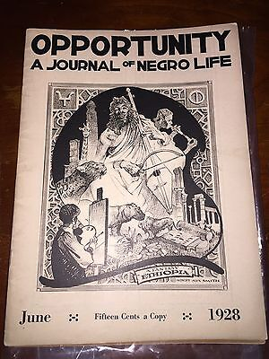 Rare!! 1928 Opportunity Journal of Negro Life
