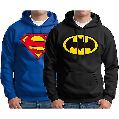 AU Men Superman Batman Hoodie Sweatshirt Warm Hooded Coat Outwear Sweater Jumper