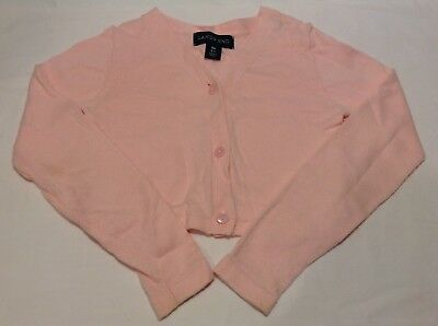 Lands' End Girl's Cropped Cardigan Pink Size 5-6