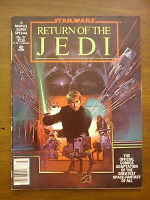 Marvel Super Special #27  star wars RETURN OF THE JEDI comic magazine 1983 vf