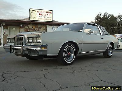 1979 Pontiac Grand Prix 2 Door Coupe 79 Pontiac Grand Prix Classic Monte Carlo Rivera G Body 1 Owner CA Pink Gbody