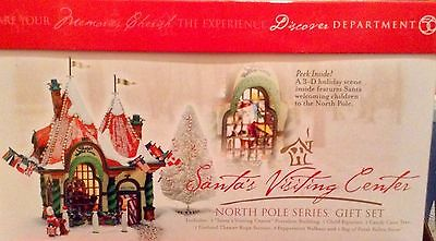 "Discover Department 56 ""Santa Visiting Center""North Pole gift set"