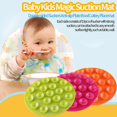 Baby Kids Anti Non Slip Place Mat Dinner Plate Lap Tray High Chair Table Bowl ZY
