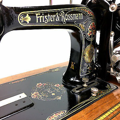 Serviced & Restored Frister & Rossman K TS Boat Shuttle Sewing Machine by 3FTERS