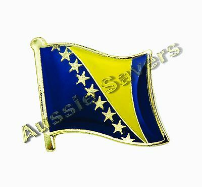 Bosnia & Herzegovina Flag Hat Pin / Badge - Brand New