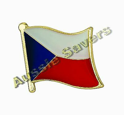 Czech Republic Flag Hat Pin / Badge - Brand New