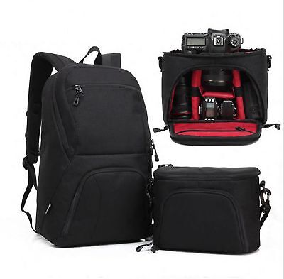 Camera Sling Backpack Camera Red Bags Combined Photographic Shoulder Bag Satchel