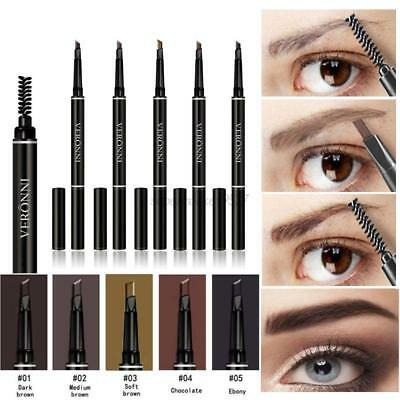 Waterproof Eye Brow Eyeliner Eyebrow Pen Pencil+Brush Beauty Makeup Cosmetics