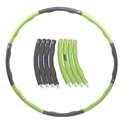 Hula Hoop Fitness Exercise Abs Workout Gym Professional Weighted Green&grey Sale