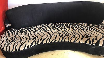 curved Tiger pattern chaises