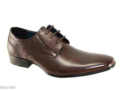 One4theRoad Lennon Mens Leather Lace up Formal Shoes