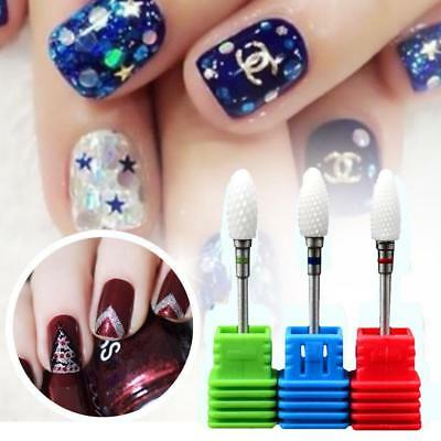Safety Nail Art Electric Ceramic Carbide Rotary File Drill Bits Manicure Tool DL