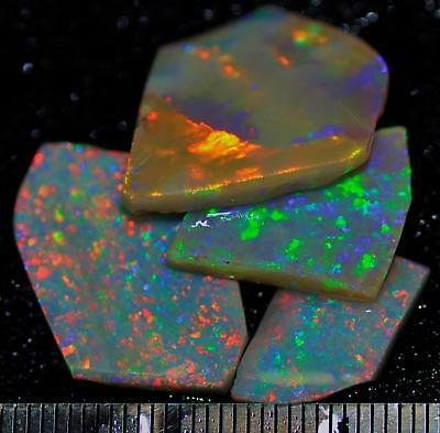 22.50 Carats Of Solid Gem Quality Lightning Ridge Rubbed Opal Parcel