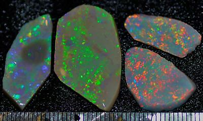 25.35 Carats Of Solid Gem Quality Lightning Ridge Rubbed Opal Parcel