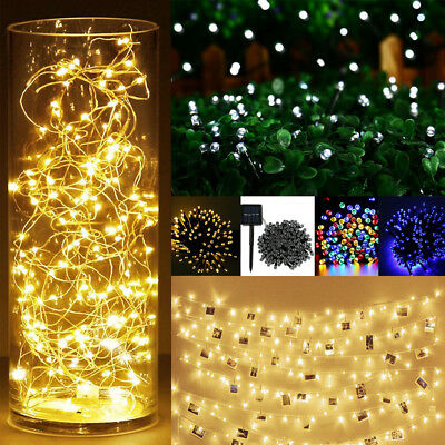 Fairy LED Garden Wedding Xmas Party String Lights 2m 10m 30m 100m Waterproof