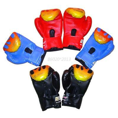 AU Boxing Gloves Sparring Training MMA Kick Boxing Punching For Kids Children