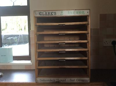 SHOP DISPLAY CABINET- Clark's Anchor Haberdashery/Embroidery 7 Drawers