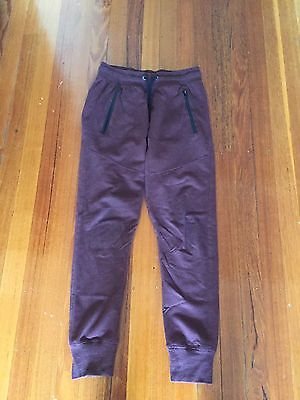 COTTON ON BOYS MAROON TRACKIE PANTS SIZE small