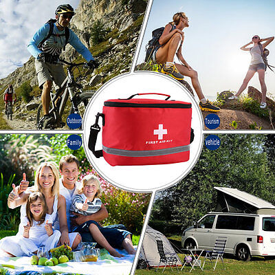 Sports Camping Home Medical Emergency Survival First Aid Kit Bag Outdoors F