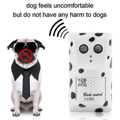 Humanely Ultrasonic Anti No Bark Control Device Stop Dog Barking Silencer F