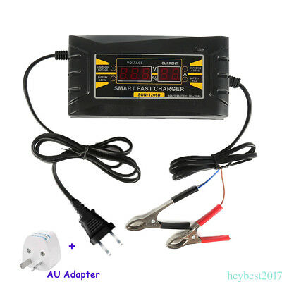 Souer 12V 6A/10A Smart Car Motorcycle Battery Charger LCD Display AU Plug