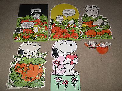 Vintage Peanuts Snoopy  Halloween Cutouts  Decorations Charles Schultz