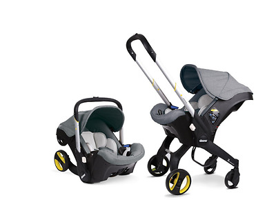Doona Rear Infant Car Seat Stroller Storm ISOFIX Compatible Grey converted baby