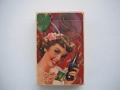 """1951 Coca Cola """"GIRL AT A PARTY"""" Sealed Playing Card Deck Mint"""