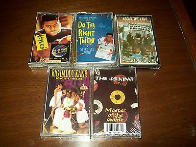 Lot of (5) Old School Hip Hop/Rap Cassettes (new and sealed)