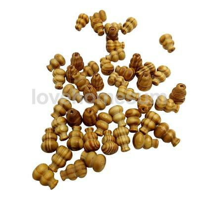 50pcs 19mm Calabash Wood Spacer Beads for Jewelry Making Necklace DIY Craft