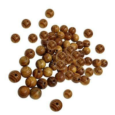 100pcs DIY Natural WOODEN BEADS Spacer Fashion Jewelry Making Findings 14mm