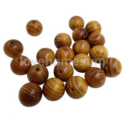 25pcs DIY Natural WOODEN BEADS Spacer Fashion Jewelry Making Findings 25mm