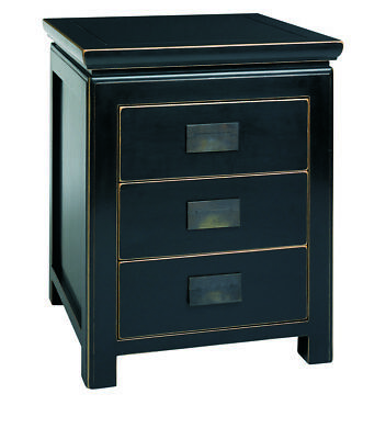 Black Lacquer Nightstand