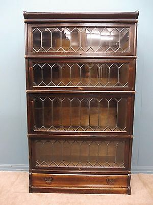 An Antique  Globe Wernicke Office,lawyer Or Library Bookcases Circa 1900-1920