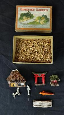 Vintage Japanese Syns Miniature Garden Set in Original Box Included!