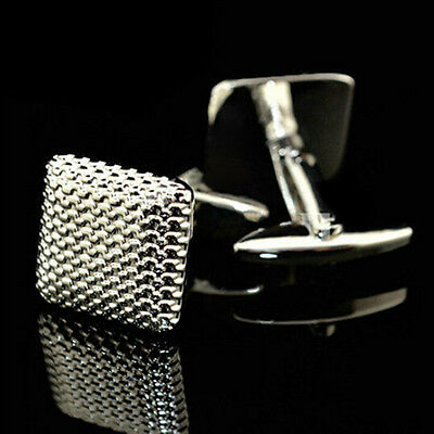 New Gentleman Men Wedding Party Gift Silver Color Cuff Link Cufflinks 2L9