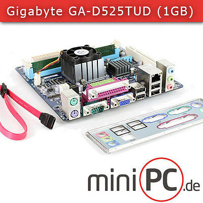 Gigabyte GA-D525TUD Mini-ITX Mainboard / Motherboard (mit 1GB Kingston RAM)