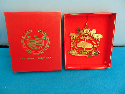 2004 Cadillac Christmas Ornament 24K Gold Finish CTS In Box Super Nice
