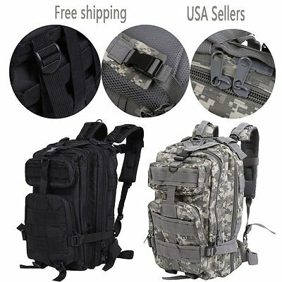 30L Military Molle Camping Backpack Tactical Camping Hiking Travel Bag OutdoorTO