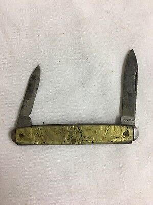 Vintage Imperial USA 2 Blade Pocket Knife Simulated MOP mother of pearl Marble