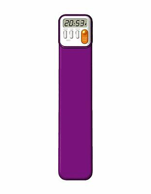 Mark-My-Time Digital Bookmark Purple - Track Reading Times - Reading Timer