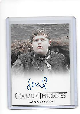 Game of Thrones Season 6 Sam Coleman as Young Hodor Full Bleed Auto Autograph