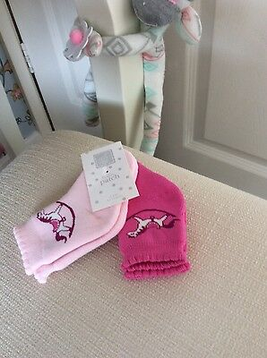 2 Pairs Girls Baby Patch Socks Age 6-12 Months Bnwt